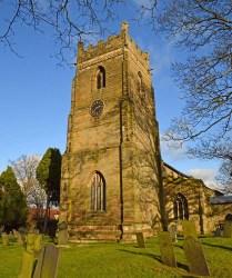 The tower of Saint Giles church, Cropwell Bishop