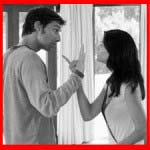 Husband wife fighting