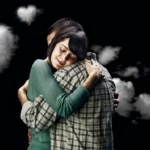 Embrace or hug loved ones in time of sorrow
