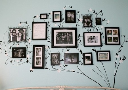 family photo on home walls