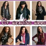 Trend of wearing wool scarves in this cool season