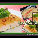 Cheesy baked salmon with orange & parmesan crust