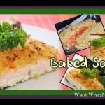 Cheesy baked salmon with orange & parmesan crust
