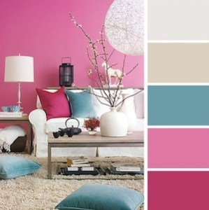 pink-living-room-decor