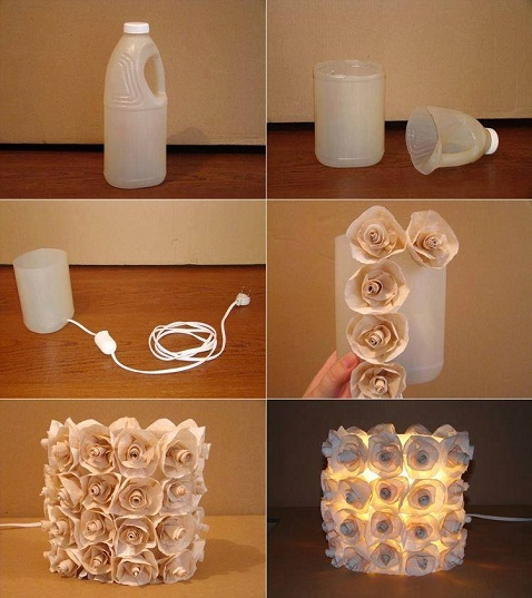 recycled-lamp-with-flowers