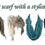 Impressive styles of scarf tying this fall and winter