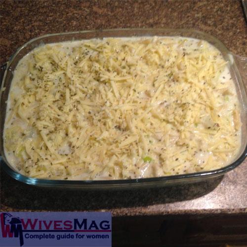 baked cheesy potatoes and leek 16