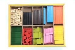 juguetes didácticos, Regleta de cuisenaire de madera - Wiwi didácticos de Mayoreo