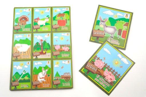 Lotería Didáctica de La Granja - Wiwi Loterías de Mayoreo
