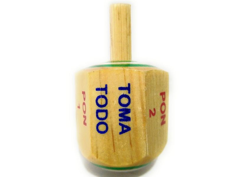 Pirinolas de madera Toma todo con punta de metal