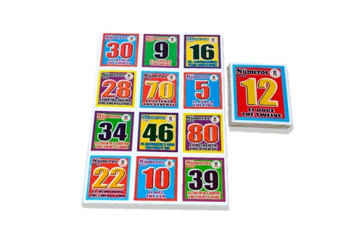 Lotería Didáctica Jumbo Los Números Bilingüe- Wiwi Loterías de Mayoreo