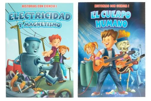 Historias con Ciencia I 4 tomos tamaño carta - Libros infantiles