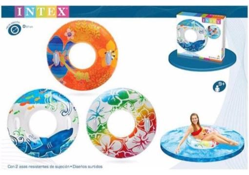 Salvavidas Aro Floral 38 pulgadas flotador inflable - Wiwi Inflables