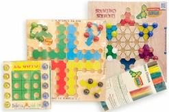 4 Juegos de mesa de madera Edu - Wiwi juegos de mayoreo