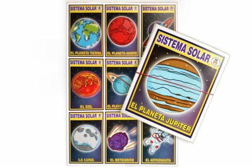 Lotería Didáctica El Sistema Solar- Wiwi Loterías de Mayoreo