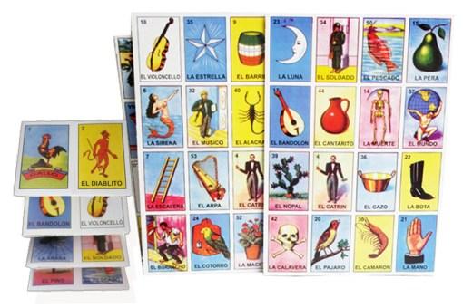 Lotería mediana del Gallo con 100 piezas - juguetería de mayoreo