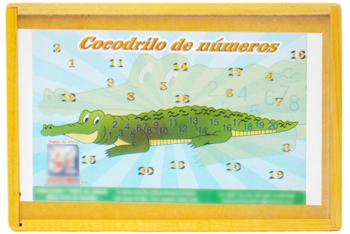 Rompecabezas 2 D cocodrilo números - Didácticos de mayoreo