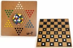 Damas y Damas de madera 30 cm - juegos de mayoreo