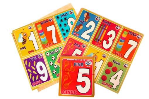 Loterías Didácticas Números del 1 al 10 con Cartas Jumbo