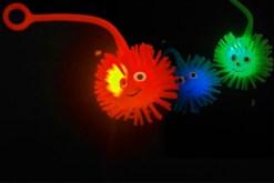 Pelotas Erizos de Luz de 3.5 cm con liga boomerang