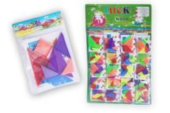 Juego de Mini Tangram planilla con 20 piezas-mayoreo