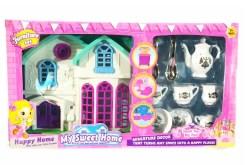 My Sweet home Casa de Muñecas con juego de te - juguetes