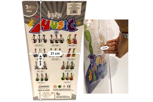 Guitarra electrónica con diseño de simpática jirafita con 8 claves o teclas que emiten sonidos musicales es de pilas no incluidas, con nuevo diseño muy llamativo para niñas y niños mayores de 3 años tienen una medida de 43 de largo x 21 de ancho 4 de alto (centímetros) y su presentación es en cartón con blister pack ideal para regalo, además a un precio increíble de mayoreo
