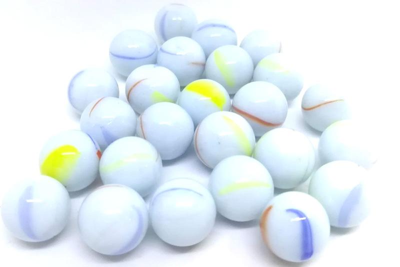 Canicas Blancas 14 mm con 25 piezas - Juegos de destreza