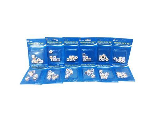 Dados blancos de plástico sólido de 13 mm paquete con 72 piezas