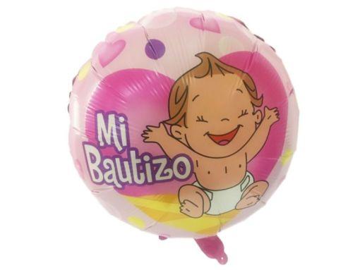 Globo para BAUTIZO es Metálico y mide más de 40 cm