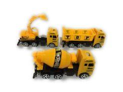 Camiones de construcción de fricción colección de 3 Heavy Truck
