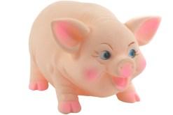 Cerdo Grande alcancía de plastisol con tapa - juguetes de mayoreo