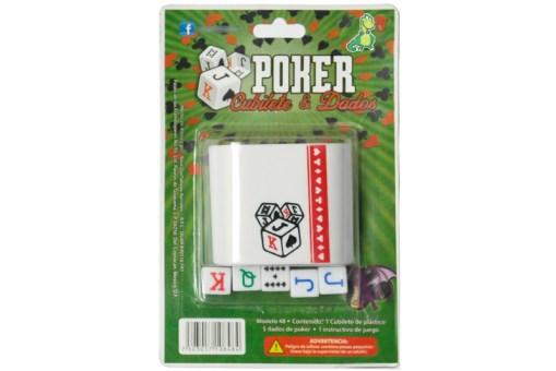 Cubilete de Poker con dados - Wiwi fiestas de Mayoreo