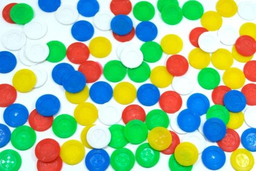 Ficha mediana de plástico 100 piezas-Wiwi Juegos mayoreo