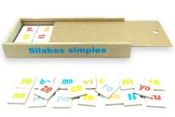 Juego de sílabas de madera - Wiwi didácticos de mayoreo, juguetes educativos