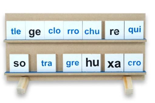 juguetes educativos, Juego de sílabas de madera - Wiwi didácticos de mayoreo