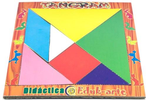 Juego de Tangram Grande de Madera -Wiwi Juegos de mayoreo