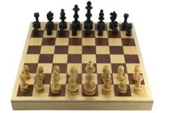 Ajedrez de madera 25 cm # 5 – Wiwi juegos mayoreo