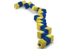 Rompecabezas 3D Cubo Serpiente de madera -Wiwi juegos de mayoreo