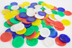 Fichas grande plástico 100 piezas-Wiwi Juegos de mayoreo