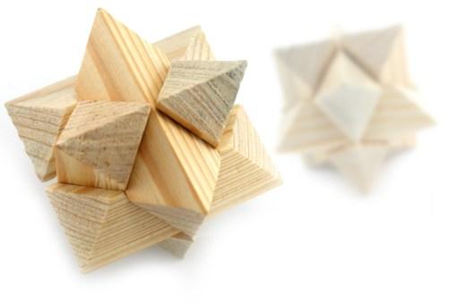 Rompecabezas 3D Estrella hecho de Madera -Wiwi Juegos de mayoreo