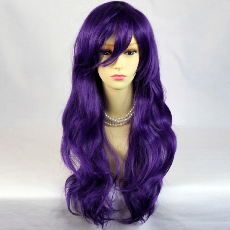 Wiwigs Watch Out Cosplay Long Wavy Purple Ladies Wigs