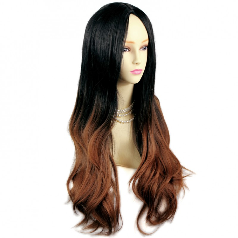Wiwigs AMAZING Style Black Brown Amp Red Long Wavy Lady