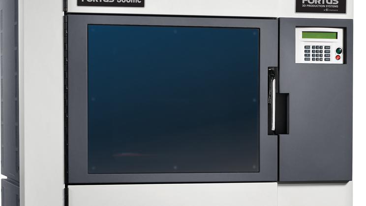 Aus einem Drucker der Firma Stratasys, die Modelle wie dieses herstellt, kam das Gehäuse für die Pistole des anonymen Waffenbauers. Quelle: Stratasys