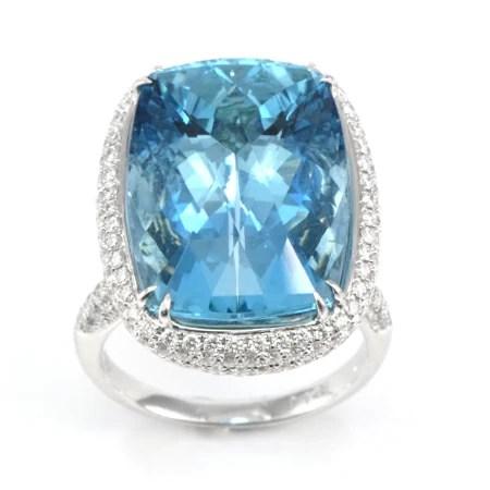 Brazilian Aquamarine Gemstone Ring Wixon Jewelers