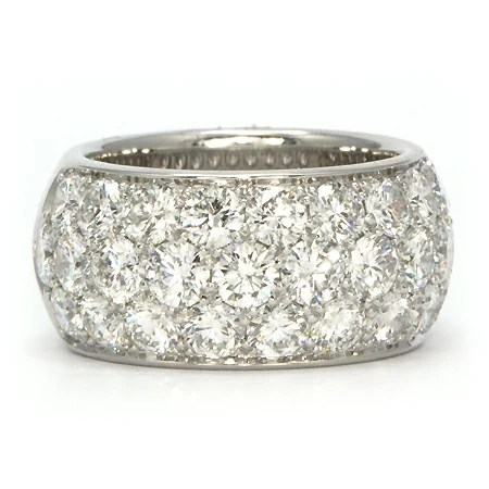 Diamond Anniversary Ring Wide Pave Set Wixon Jewelers