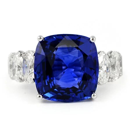 13 Carat Ceylon Blue Sapphire Amp Diamond Ring Wixon Jewelers