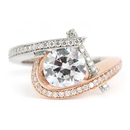 Claude Thibaudeau Engagement Ring Rose Gold Wixon Jewelers