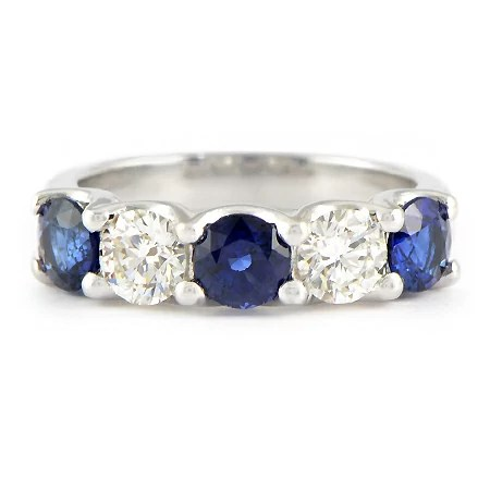 Blue Sapphire Amp Diamond Ring For Wedding Band Or