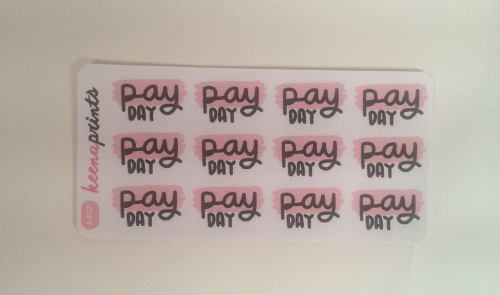 Payday sticker | The Rebel Planner